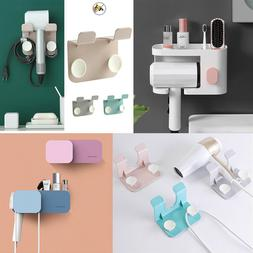 Hair Dryer Holder Self-Adhesive Hanging Rack Organizer Hook