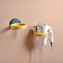 Hair Dryer Holder Wall Mount Bathroom No Drilling Adhesive R