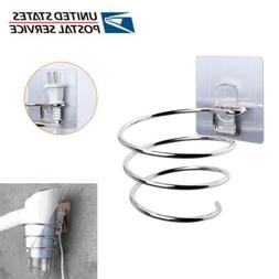 Hair Dryer Holder Wall Mounted Rack Space Save Stainless Ste