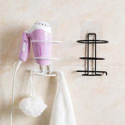 Hair Dryer Holder Wall Mounted Stainless Steel Bath Storage