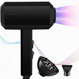JINRU Hair Dryer 2000W / Mute/Home/Quick Dry/Portable/with A