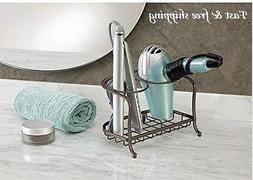Hair Dryer Stand Rack Holder Hairbrush Storage Counter Bathr