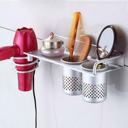 Hair Dryer Stand Storage Organizer Rack Holder Hanger Wall B