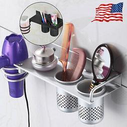 Hair Dryer Stand Storage Organizer Rack Holder Hanger Wall M