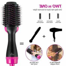 Hair Dryer Volumizer Curling Oval Brush Curler Styler Mixed