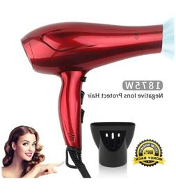 JINRI Hair Dryers Professional Blow Dryer 1875w Powerful Tou