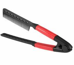 hair straightener spring grip straightening comb flat