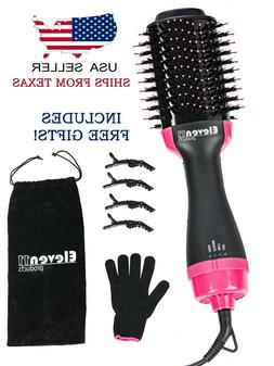 Hot Air Brush Dryer Negative Ion One Step hair dryer and vol