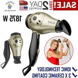 Ionic Hair Dryer Professional Travel Turbo Blower Compact 2