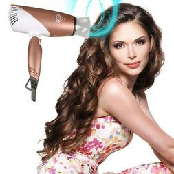 JINRI-031 1875W Tourmaline Ceramic Travel Hair Dryer Rose Go