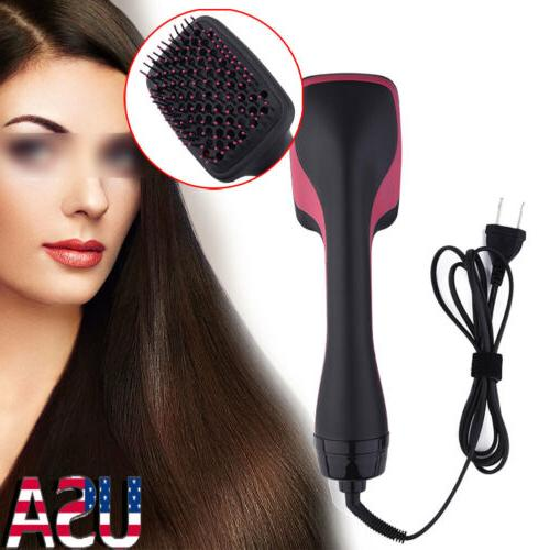Electric Anion Hair Dryer Comb Styler Hairdressing Tool