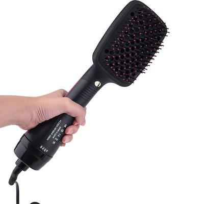110V 2 in 1 Salon Beauty Smoothing Dryer Paddle Brush Hair Styler Comb