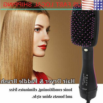 110v 2in1 multifunctional anion hair dryer brush