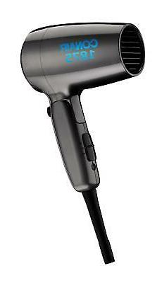 Conair 1875 Watt Compact Folding Handle Hair Dryer, Travel H