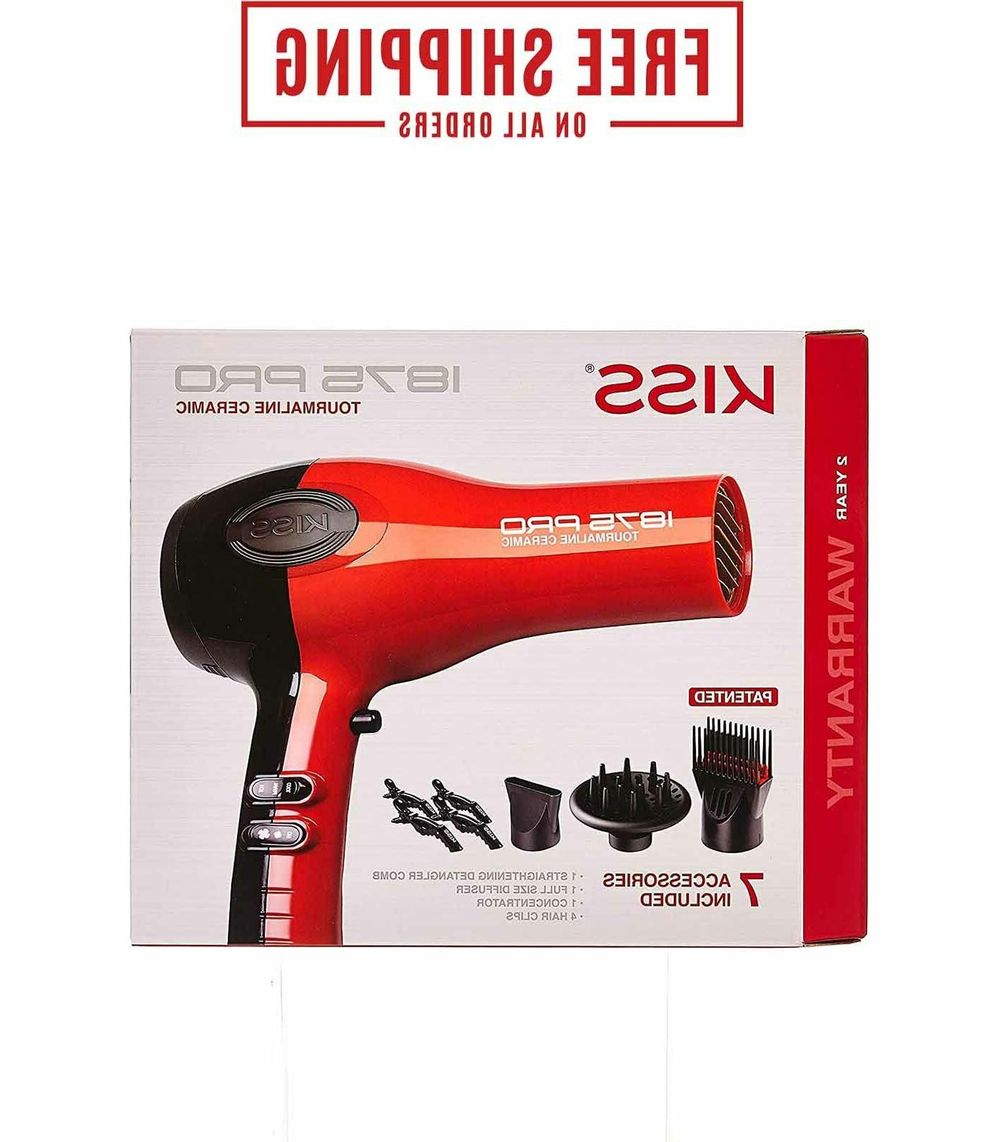 1875w hair blow dryer with comb attachment