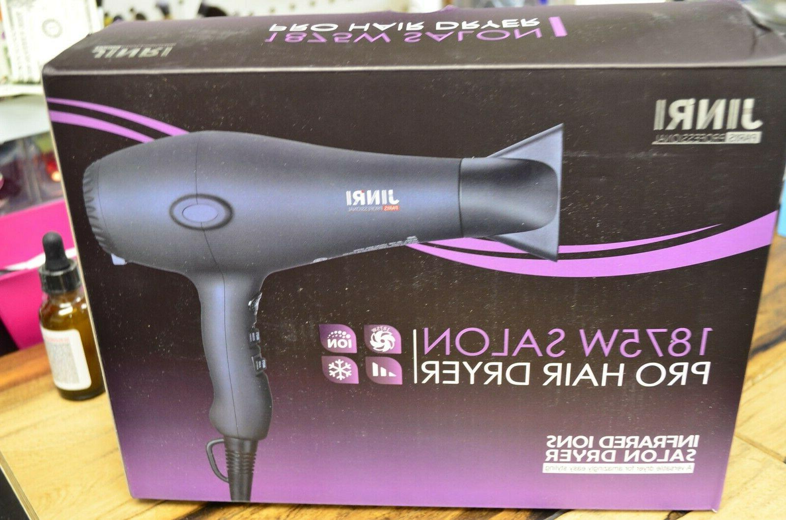 JINRI 1875W Infrared Ions Salon Pro Hair Dryer 2019 Newest M