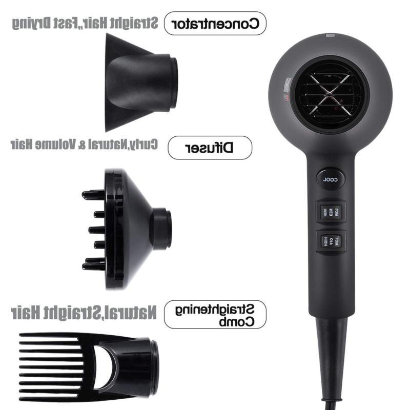 1875W Professional Hair Dryer, Blow Black