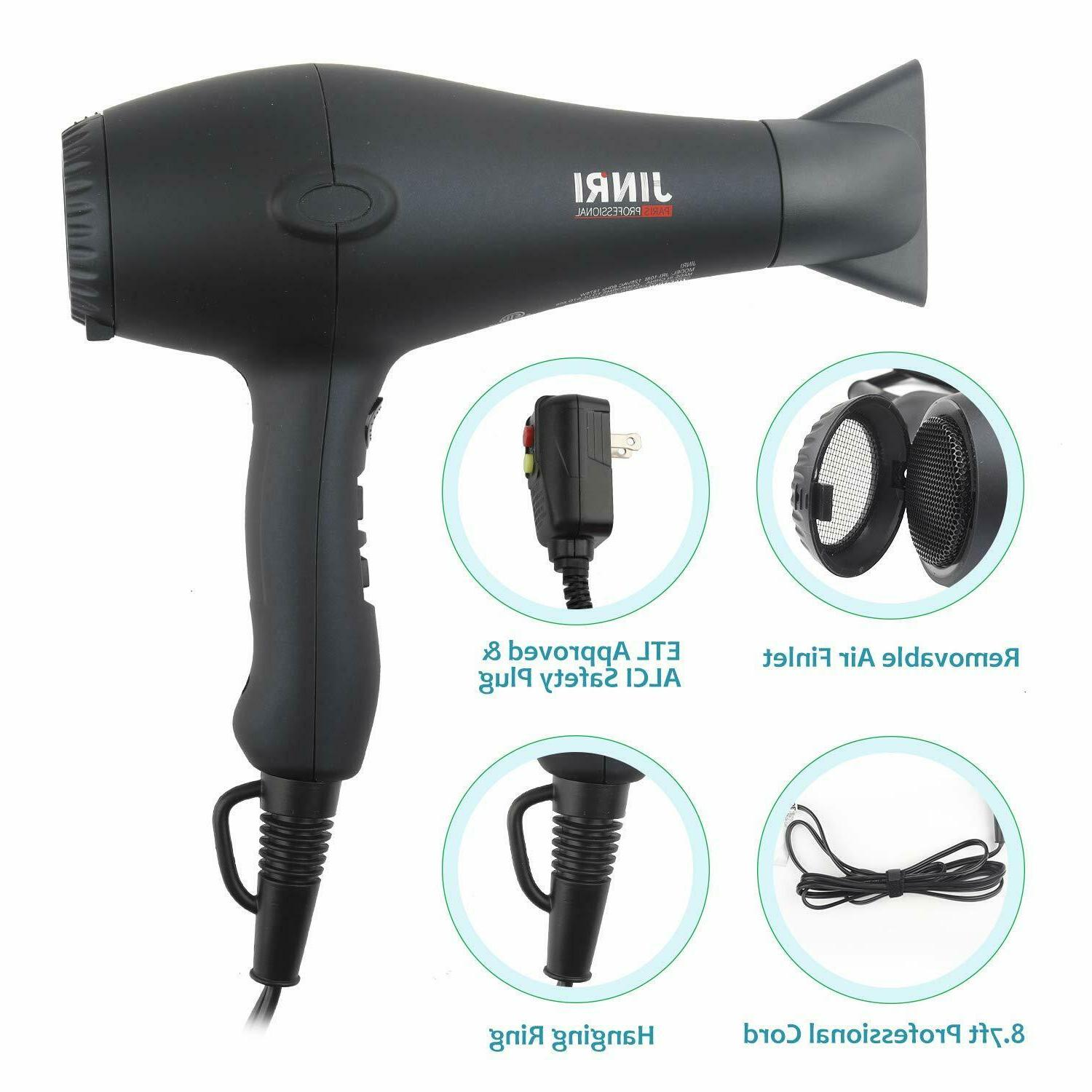 JINRI1875W Professional Hair with & Concentrator