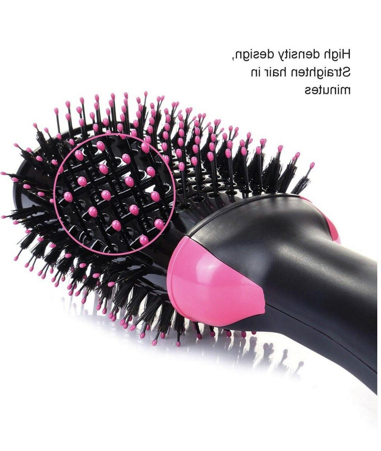 2-in-1 Hair Blow Dryer Volumizer Comb Infrared Hot Air Brush