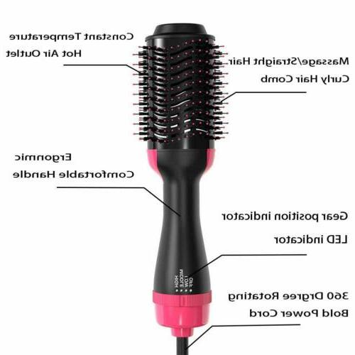 2 Hair Dryer & Straightener Hot Air Comb