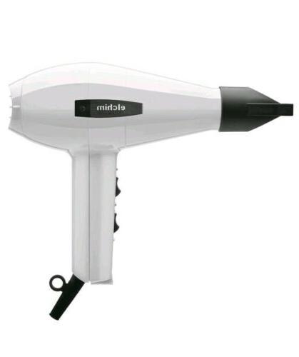 2001 professional italian salon hair dryer white