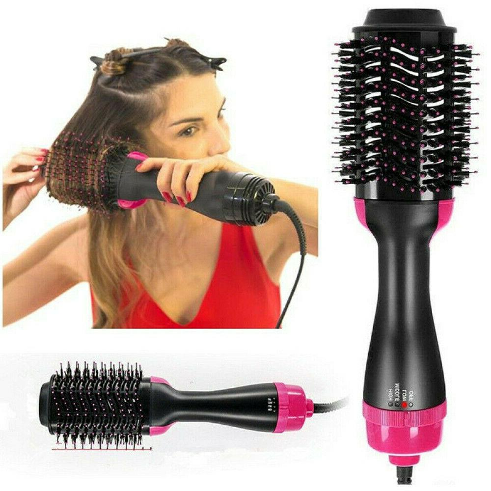 USA 3In1 One Hair and Brush Comb Straightening Curling Iron