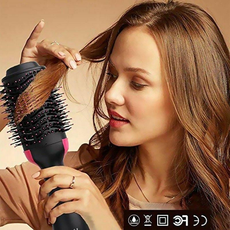 3 Step Hair Comb and Volumizer Pro Brush Straightener