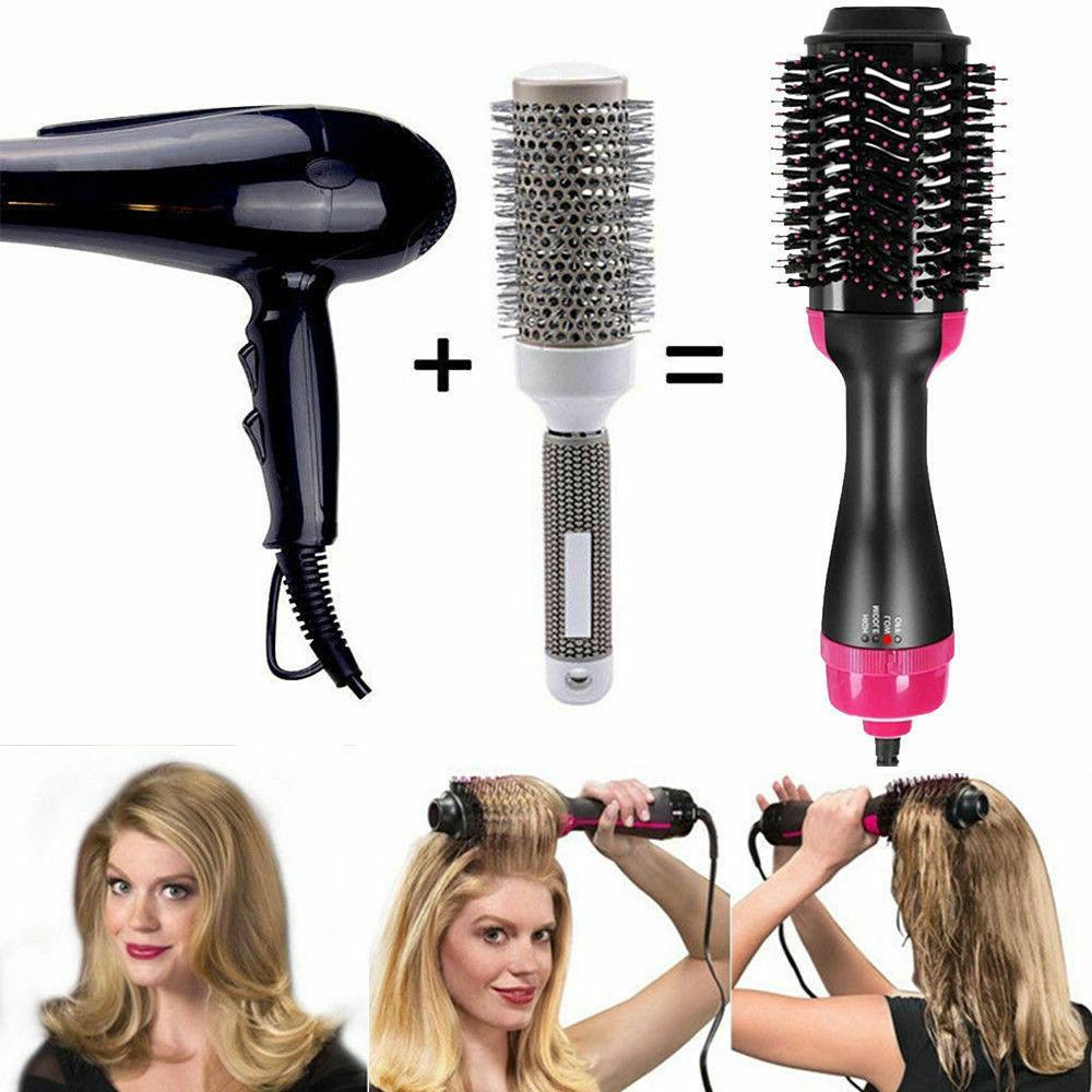 3 In 1 Step Hair and Volumizer Straightener Curler New