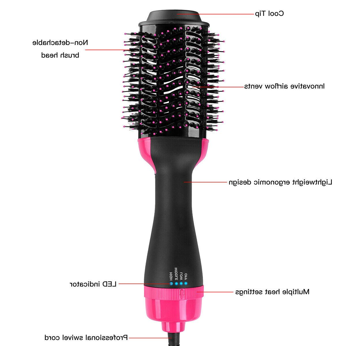 3in1 Air Hair Straighten Curl Brush