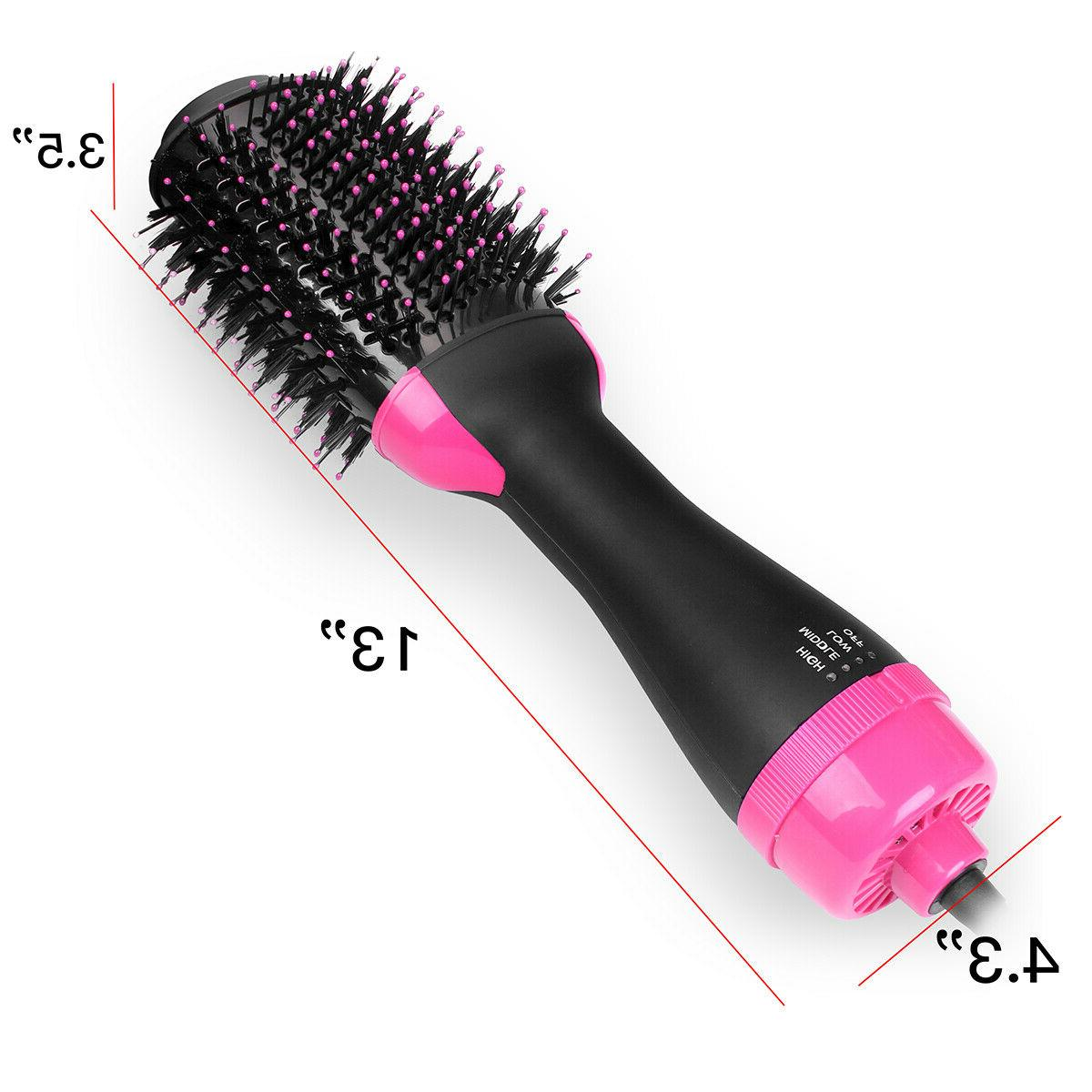 3in1 Hair Ion Straighten Curl Blower Brush