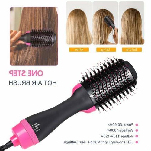 Hot Air Brush, One Step Hair Dryer Volumizer, 3-in-1 Hair Dr