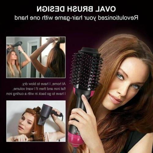 3 Curler Straightener Salon Brush Curling