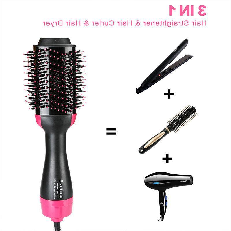 Hair Straightener Brush, Air Brush Step Hair Dryer Volumizer