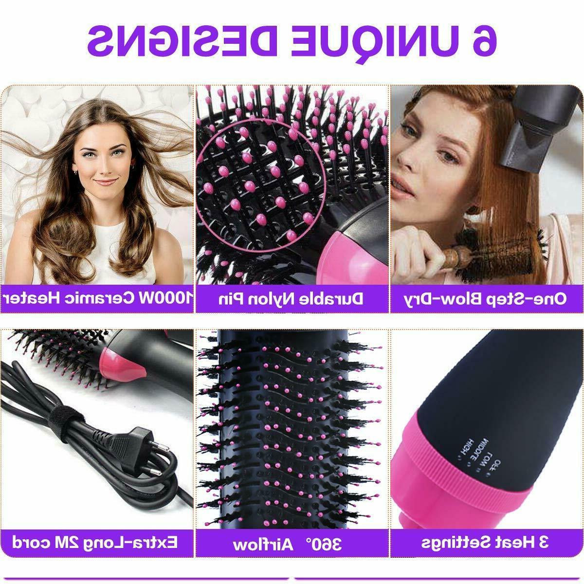 4 Hot Air Multi-function Straight Hair Curling Dryer
