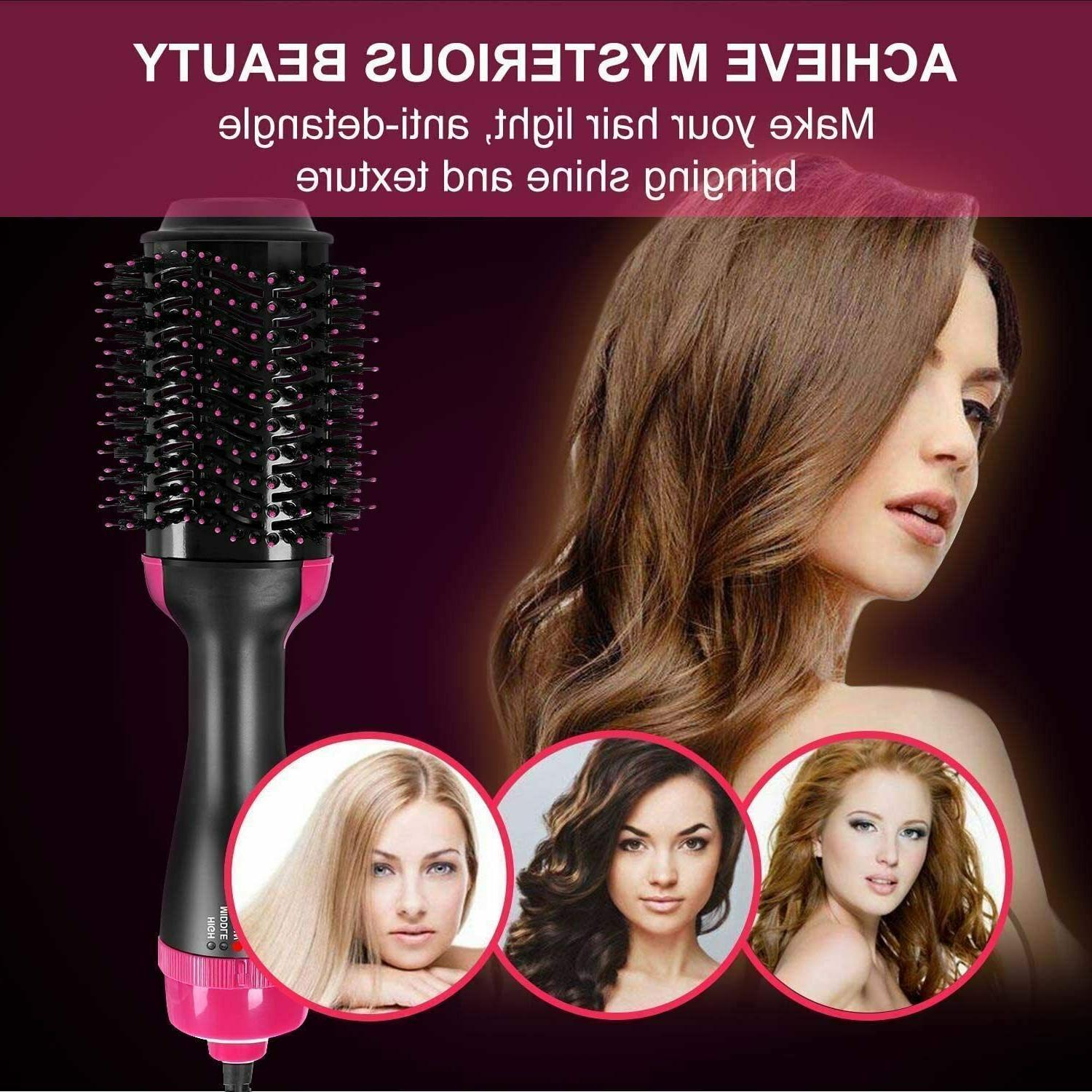 4 1 Hot Air Hair One Step Ion Comb Dryer