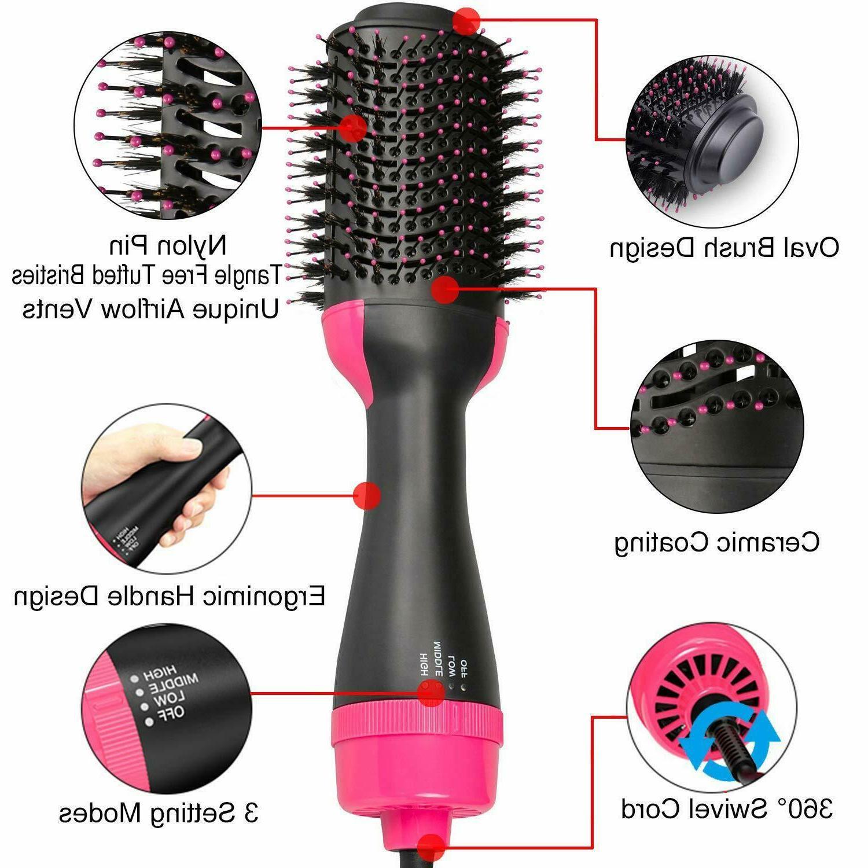 4 Air Dryer Brush One Step Brush Straight/Curl