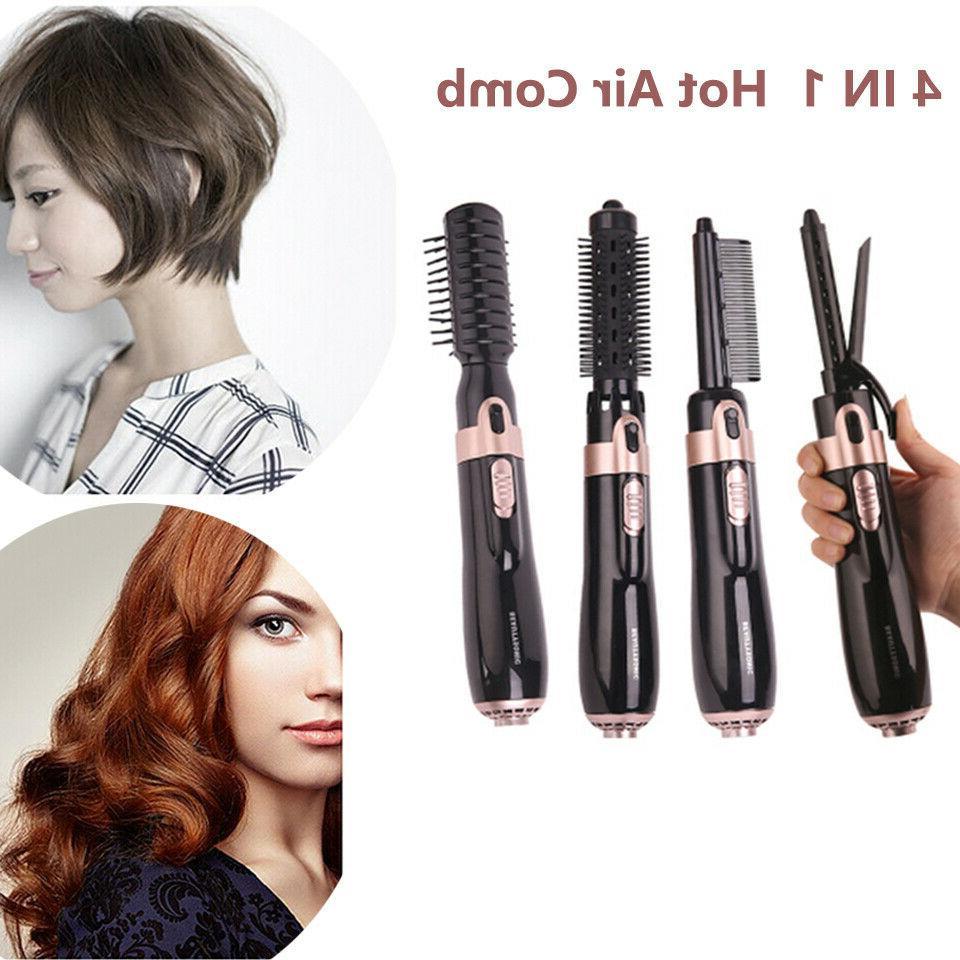 4 Ion Hair Straight Curls Brush Hair Hot