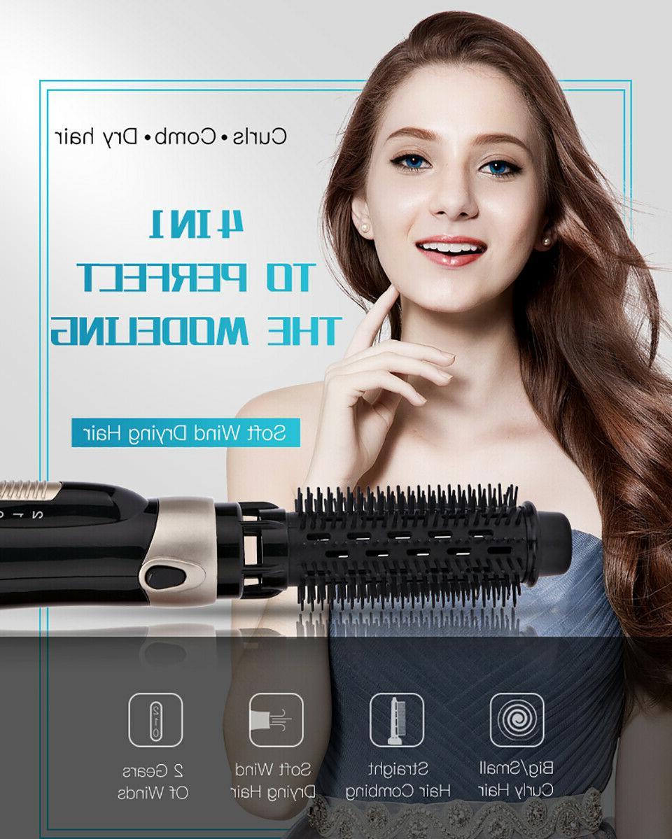 4 In Ion Straight Curls Brush Hair Hot