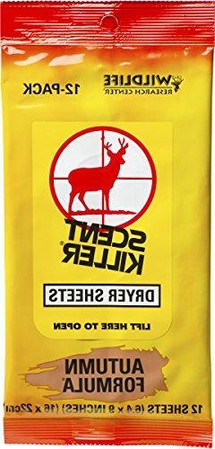 Wildlife Research 580 Scent Killer Autumn Formula Dryer Shee