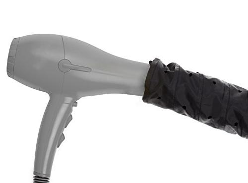 Bonnet Hair Dryer Attachment- Soft, Large Hooded Bonnet for Hand Held Hair Dryer with Grip Extended
