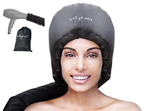 Bonnet Hood Hair Dryer Attachment- Soft, Adjustable Extra La