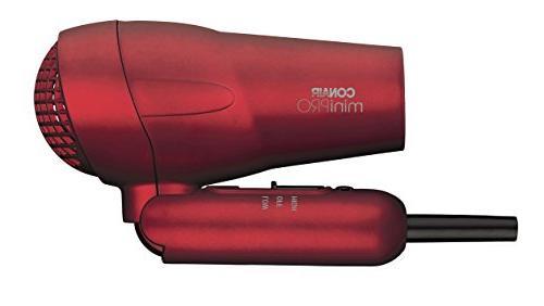 Conair MiniPRO Folding Handle Tourmaline Ceramic Styler/Hair Red