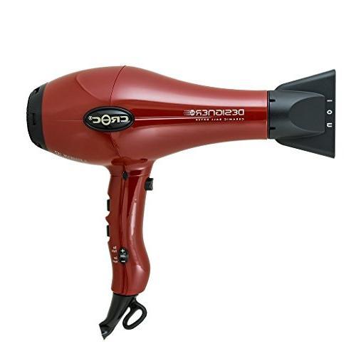 Croc Tru Silk Designer Red Blow Hair Dryer Gift Set