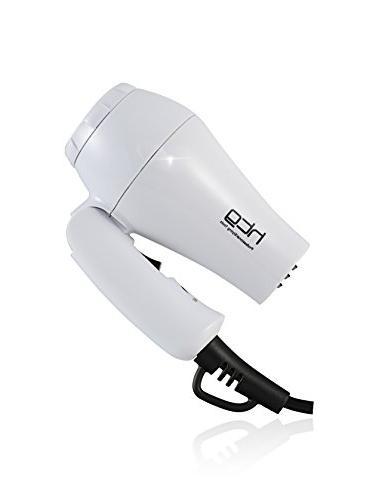 HTG 1000W Tourmaline Dual Voltage Travel Hair and Light Weight Dryer 1000W Hair Dryer Voltage Folding Travel Blow