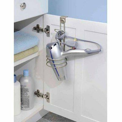 InterDesign Classico Over Cabinet Hair Dryer Holder- Bathroo