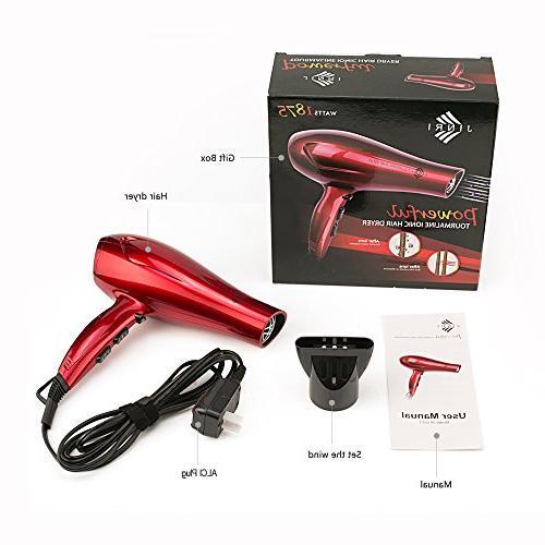 JINRI Hair Dryers Professional Blow Dryer Tourmaline Light Hairdressing blowdryers Portable Ring & - JR-021