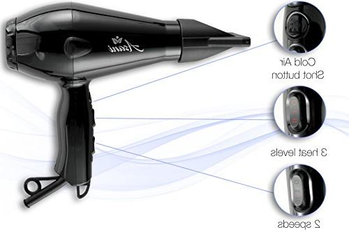 Professional Hair Dryer Anti-Frizz Ionic | Extra-Fast Blow Blow Electric Hair for Women &