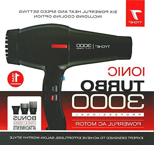 Tyche Professional Dryer Turbo Jet Black