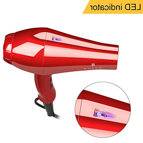 Wazor Hair dryer Negative Ionic Far Speed Settings Cool Shot