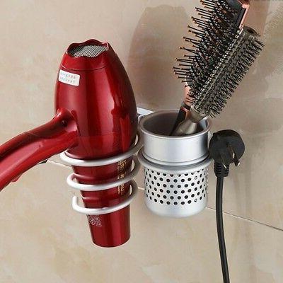 bathroom wall mount hair dryer holder stand